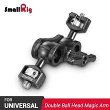 SmallRig DSLR Camera Magic Arm with Double Ballheads (1/4 & 3/8 Screws) Adjustable 360 degree Ball Head Monitor Holder 2212 smallrig adjustable friction articulating magic arm with screw ball head and nato clamp ball head for director monitor support