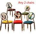 29%  2 stücke Rosa Europäischen retro stuhl einzigen eisen esszimmer hocker kreative PU make up barhocker Stilvolle nagel stühle Weichen schwamm kissen Maniküretische Möbel -