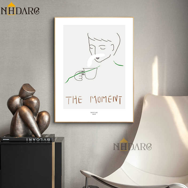 NHDARC Canvas Printings Spray Painting Vogue The Momeivt Line Sketch Art Posters and Pirnts Wall Pictures Home Decor ARC00820