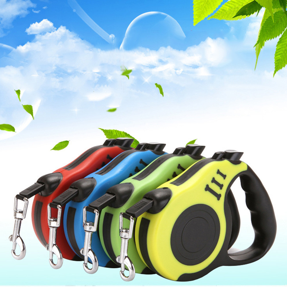 MUQGEW 3M/5M Retractable Dog Leash Automatic Flexible Puppy