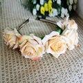 Popular 1PC Lady Girl Floral Flower Festival Wedding Garland Forehead Hair Head Band Headbands Crown Accessories