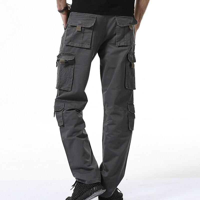 Kargo pantolon erkekler 2017 erkek askeri Çok Cepler Savaş Rahat - Erkek Giyim - Fotoğraf 5