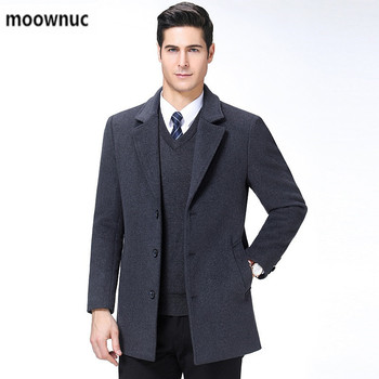 2019 new arrival autumn&winter high quality wool trench coat for men,men's wool jackets warm coat with single-breasted,big size