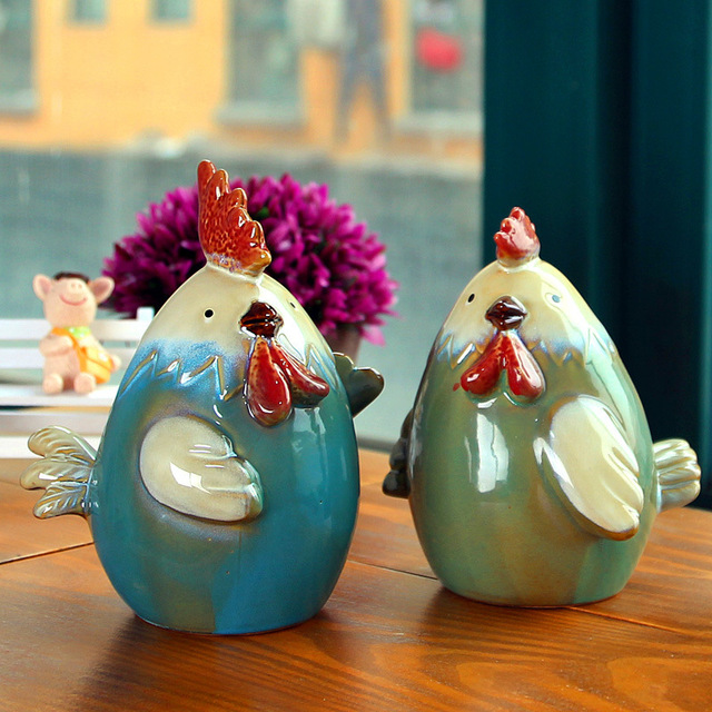 US $38 0 |Manufacturers selling creative ceramic crafts ceramic chicken  piggy piggy bank Home Furnishing living room decoration-in Clay Molds from
