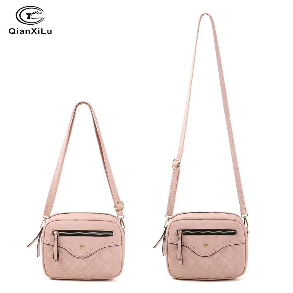 Image 5 - QIANXILU Fashion Crossbody Bags For Women 2019 High Capacity Shoulder Bag PU Leather Handbag Female Zipper Messenger BagsShoulder Bags   -