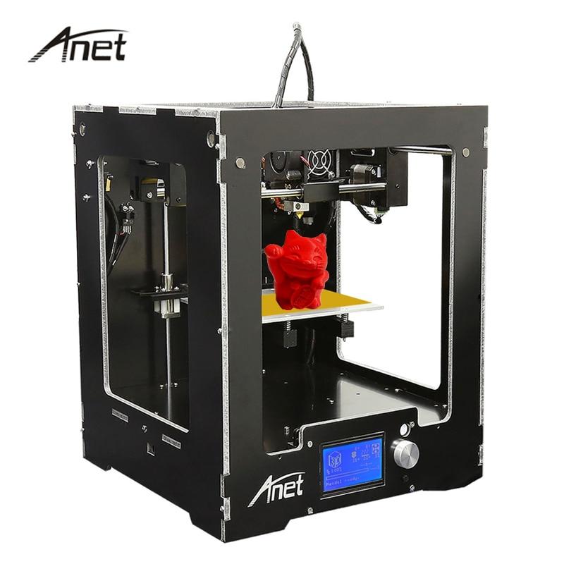 Anet A3 Full Assembled Desktop 3D Printer Big Print Size Precision Reprap Prusa i3 3D Printer with 10m Filaments+16G SD Card anet a8 3d printer reprap prusa i3 precision with free 8 gb sd card lcd screen high quality desktop 3d printer moscow warehouse
