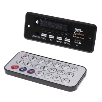 Digital LED 12V MP3 WMA WAV Decoder Audio Board FM Radio with Remote for Car Auto image