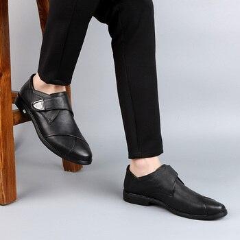 Slip Blanco En Los Zapatos | Mocasines De Vaca De Cuero Genuino 2019 Nuevos Zapatos De Hombre De Moda Casual Blanco Negro Deslizamiento En Zapato Hombre Zapatos De Conducción Para Hombres Gran Venta