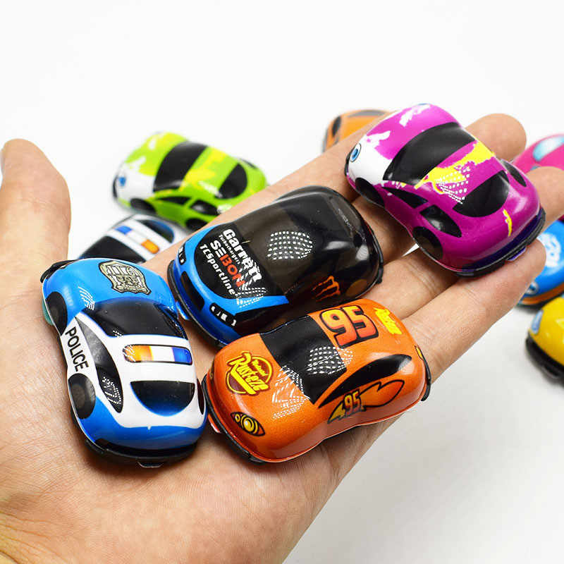 20pcs/lot Baby Toys Cute Plastic Pull Back Cars Toy Cars for Child Wheels Mini Car Model Funny Kids Toys for Boys