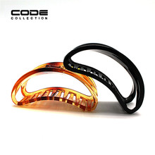 Plastic Hair Claw Ornaments Accessories Women Transparent Banana Headwear for Girls HW343