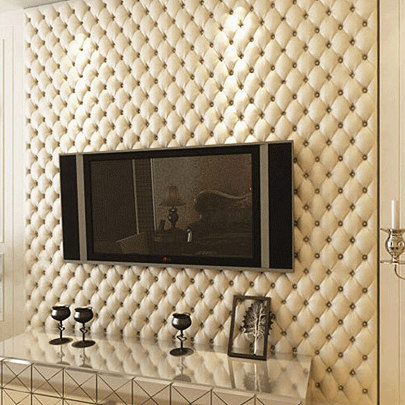 ФОТО Luxury fashion leather 3d stereotelevision wall wallpaper brief bag wallpaper