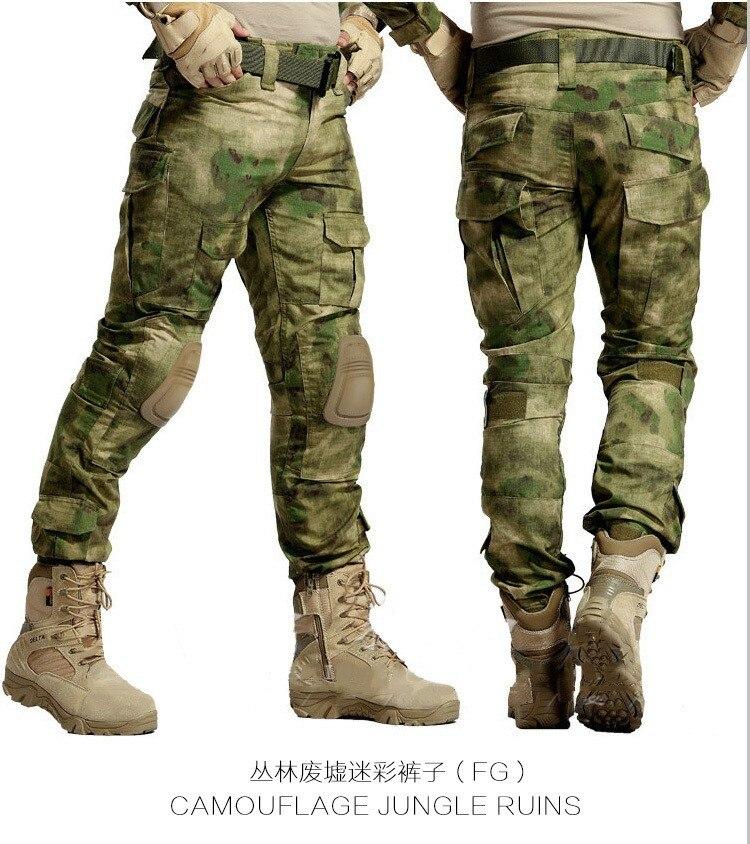 Camuflaje táctico militar paintball ejército combate conjuntos pantalones multicam con Frogman 4 colores ropa militar abbigliamento softair - 6