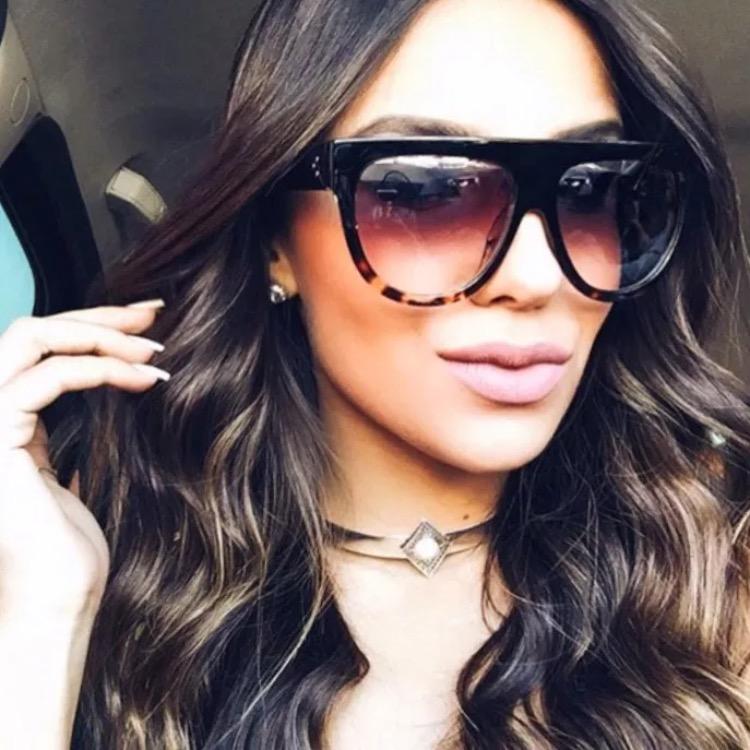HTB1yJGYPXXXXXcuapXXxh4dFXXXz - Flat Top Retro Tortoise Shadow Women's Sunglasses