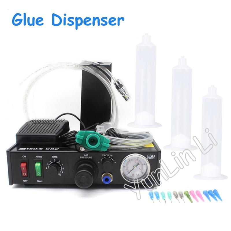 Semi-Automatic Glue Dispenser Machine Glue Dispenser Solder Paste Liquid Controller FT-982 high quality ft 982 automatic glue dispenser dispensing machine with glue tips & glue cylinder