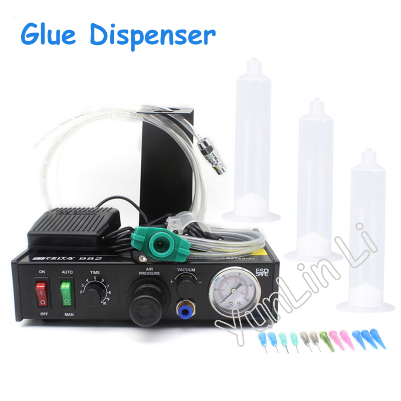 Semi-Automatic Glue Dispenser Machine Glue Dispenser Solder Paste Liquid Controller FT-982 feita ft 982 semi automatic liquid glue dispensing dispenser machine with manual operation and foot pedal