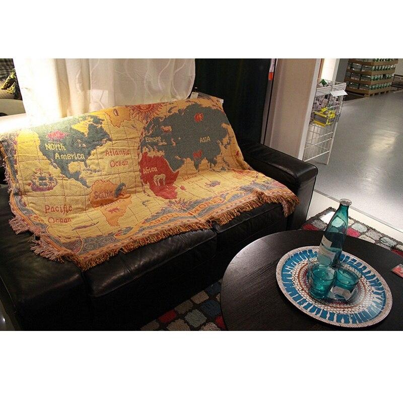 بوهيميا شرابة أريكة منشفة بطانية محبوك متعددة الوظائف السرير أريكة الغلاف خياطة أريكة الزخرفية الغلاف الرميات على الطائرة-في رمي من المنزل والحديقة على  مجموعة 3