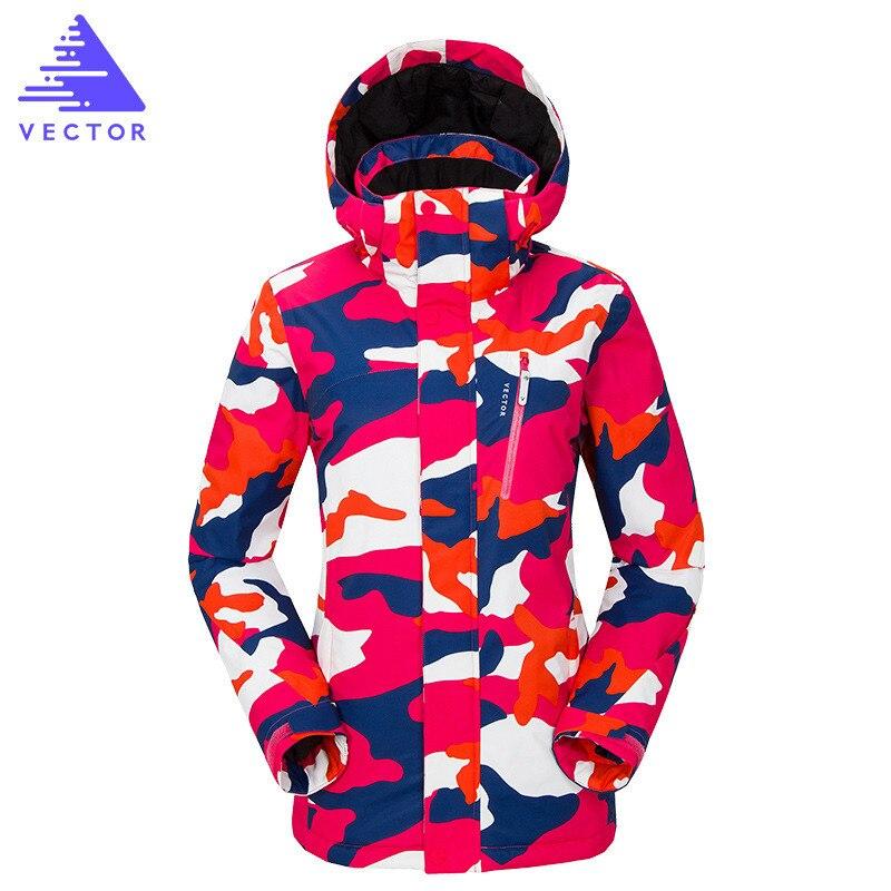 Femmes Ski Snowboard Costumes Hiver Ski Costume Femmes Professionnel vestes de Ski Imperméable À L'eau Chaude En Plein Air de Neige Vêtements de Neige Pantalon