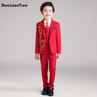 2019 new wisefin children piece suit gentleman denim suit for boy formal kids wedding clothes elegant boy evening clothing party