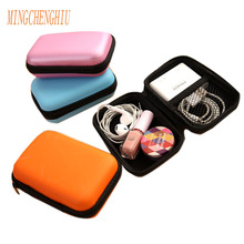 Fashion cable organizer bag USB data cable earphone wire pen power bank travel storage box kit case digital gadget devices