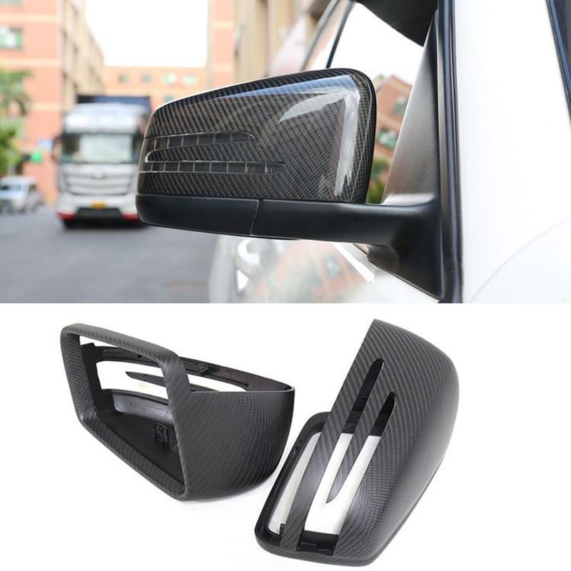 Rétroviseur de porte de voiture en fiber de carbone couvre voiture-style pour Mercedes Benz A B C E S série CLA CLS GLK GLA accessoire Auto