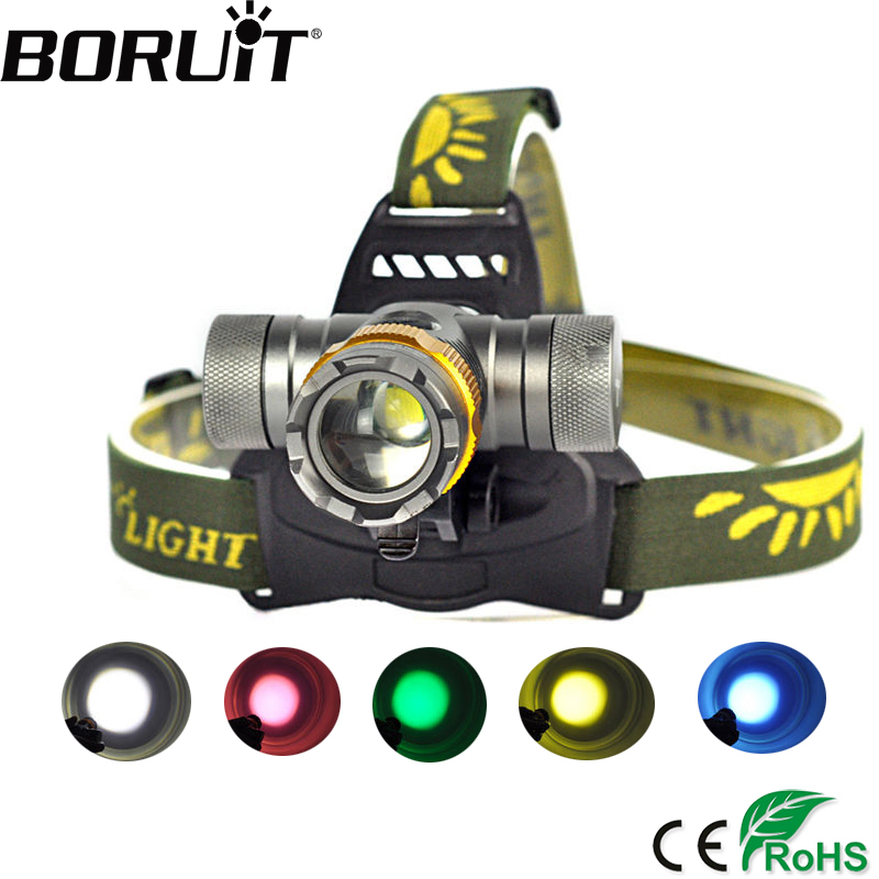 BORUiT 2000LM XML-T6 LED Headlight 3-Mode Headlamp Zoom Head Torch Rotating Bicycle Frontal Lantern Hunting Light 18650 Battery фонарик hedeli 2000lm xml t6 flashlgiht ficklampa latarka hs506b