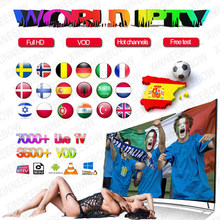 World IPTV 1 Year iptv subscription europe iptv portugal Spain France Italy USA dutch Iptv m3u for Smart TV Android Box X96 Mini(China)