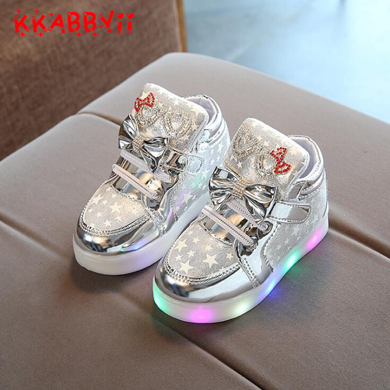 Trustful High Quality Spring Autumn Kids Boys Girls Unisex Shoes Led Light Up Shoes Luminous Star Shoes For Baby Children Mother & Kids