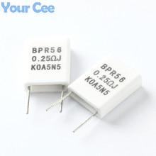 10pcs BPR56 5W 0.25 ohm 0.25R Ceramic Cement Non-inductive Resistor Passive Component