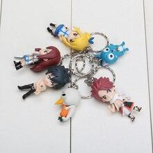 6pcs/set  Fairy Tail Key Chain Doll Toy