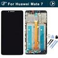Оригинал для Huawei Mate 7 ЖК-Дисплей И Сенсорный Экран С Ассамблея рамка Для Huawei Mate 7 смартфон черный белый золотой