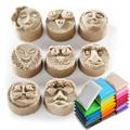 10 unids diy maleable fimo polímero arcilla de modelado craft soft bloques juguetes educativos juguete especial diy plastilina juguetes de regalo