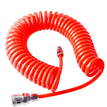 Polyurethane PU Air Compressor Hose Tube Flexible Tool With Connector PP20 Spring Spiral Pipe for
