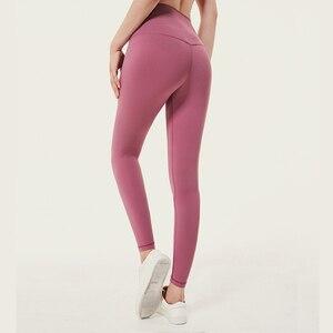 Image 1 - Леггинсы женские с эффектом пуш ап, мягкие эластичные нейлоновые штаны с завышенной талией для фитнеса, пикантные для тренажерного зала и тренировок
