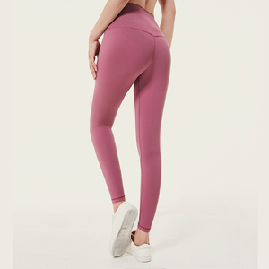 Image 1 - Soft Stretchy Nylon Push Up Leggings Women High Waist Fitness Pants Women Gym  Workout Legging Sexy