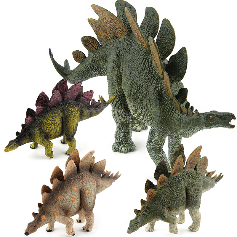 4 Colors Jurassic Dino World Thyreophora Stegosaurus Solid model figure teaching Collection Childrens birthday Gift model toys