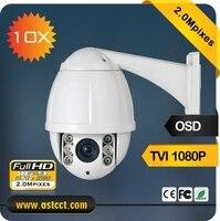Chất lượng cao 10X Zoom 1080 P Chống Thấm Nước IP66 Mini TVI PTZ Camera 2MP IR An Ninh CCTV Dome Camera 1080 P TVI đêm vesion
