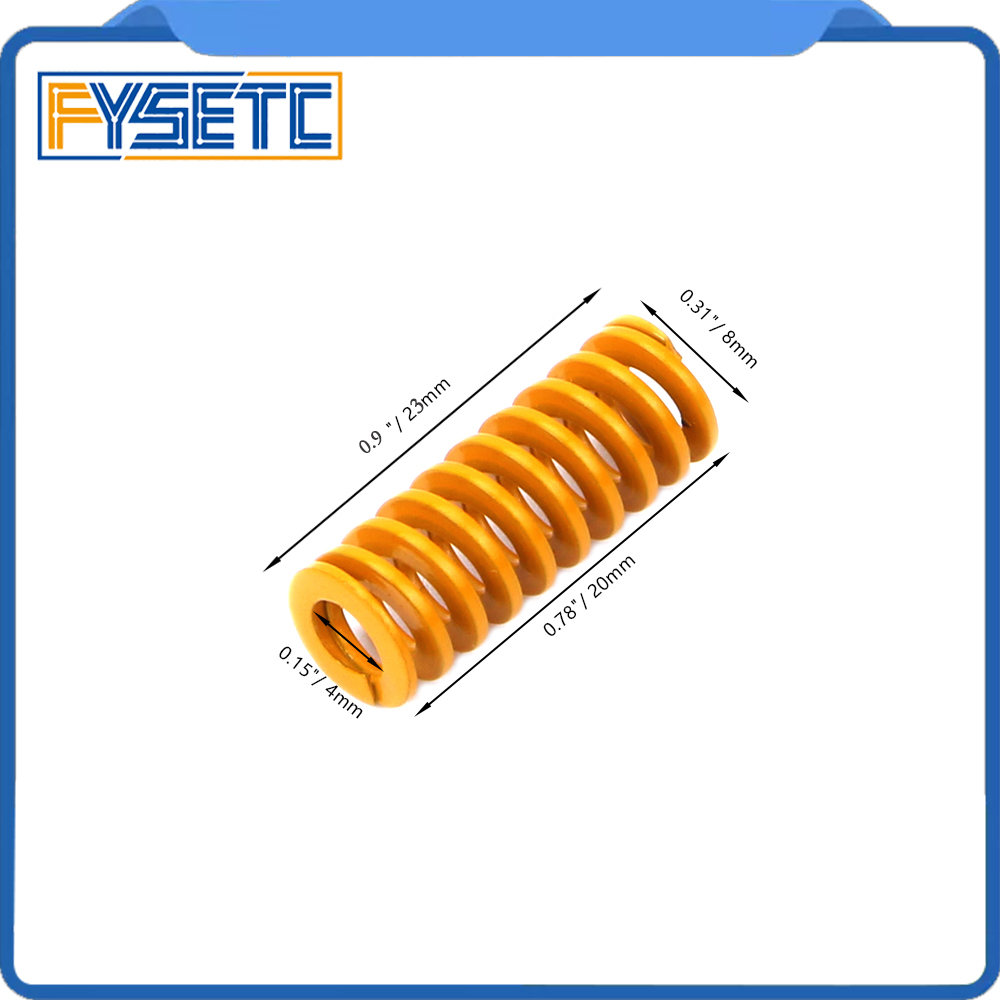 5pcs Imported 3D Printer Parts Spring Length 23mm OD 8mm ID 4mm For Heated Bed CR-10 CR-10Mini CR-10S Series 3D Printer