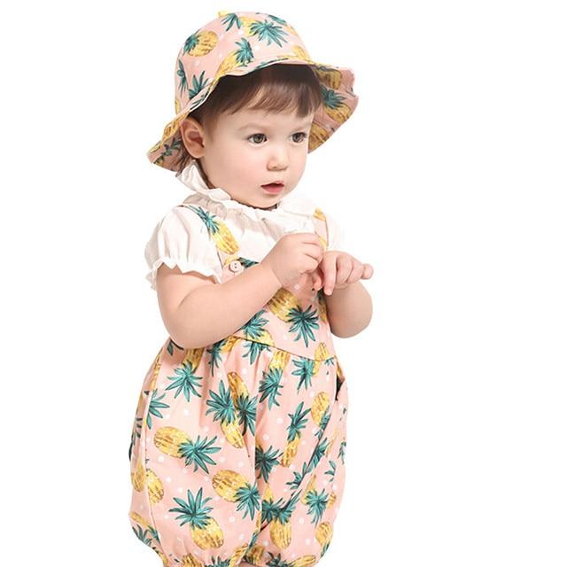 b633c817aa5e Children Clothing Baby Set Toddler Pineapple Romper Stripe Bodysuit+ ...