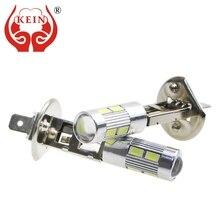 цена на KEIN 2pcs H1 led fog Light 10smd DRL led h1 car Lights 5630 5730 Daytime Running white Vehicle External Lamp Bulb Day Driving