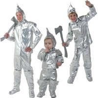 IREK hot Halloween Costume Adult Children Wizard of Oz Cosplay party Costume TINMAN robotic clothing top quality
