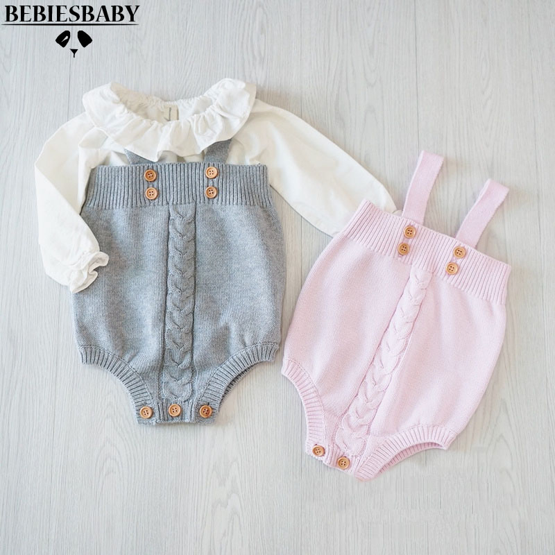 2016 cute baby girls jumpsuits infant rompers baby Toddler Overalls Button Rompers Princess Kids Clothes new arrival Rompers 2017 new fashion cute rompers toddlers unisex baby clothes newborn baby overalls ropa bebes pajamas kids toddler clothes sr133