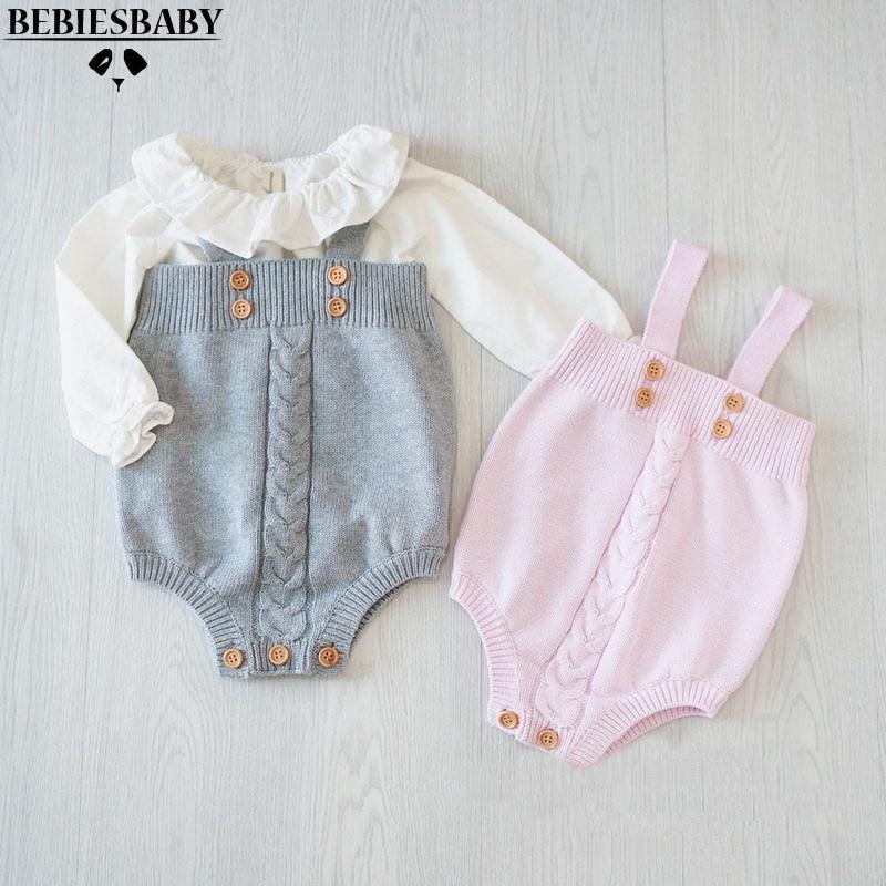 2017 slatka beba djevojke jumpsuits dječji dječji dječji dječji mališan kombinezon Button Rompers Princess Kids Odjeća novi dolazak Rompers