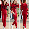 new autumn women long sleeve sweater suits letter printed hooded sweaters soft sportswear casual suits