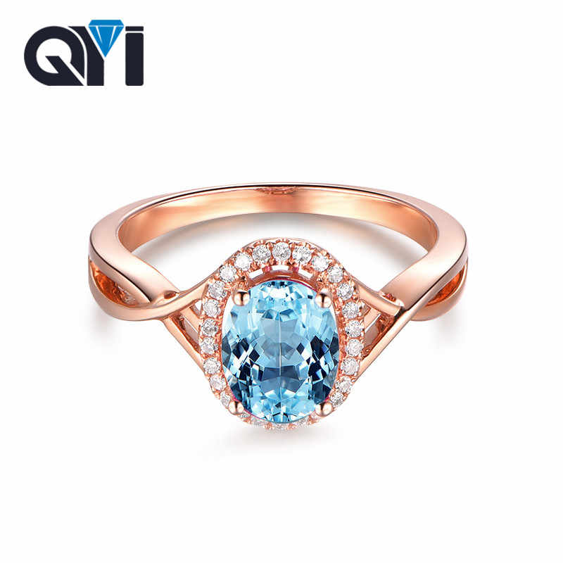 luxury ring,engagement ring,gift for her,silver rings,gemstone ring Natural Blue Topaz Ring 925 Sterling Silver Ring,oval cut 6*8 mm ring