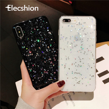 Bling Star Phone Case For iPhoneX Xs Max Clear Silicone 6 7 8 Plus Shockproof Shimmering Powder Transparent Cover