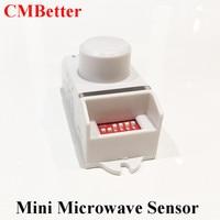 High Frequency 5 8GHz Mini Microwave Radar Sensor Body Motion HF Detector Light Switch Sensors Indoors