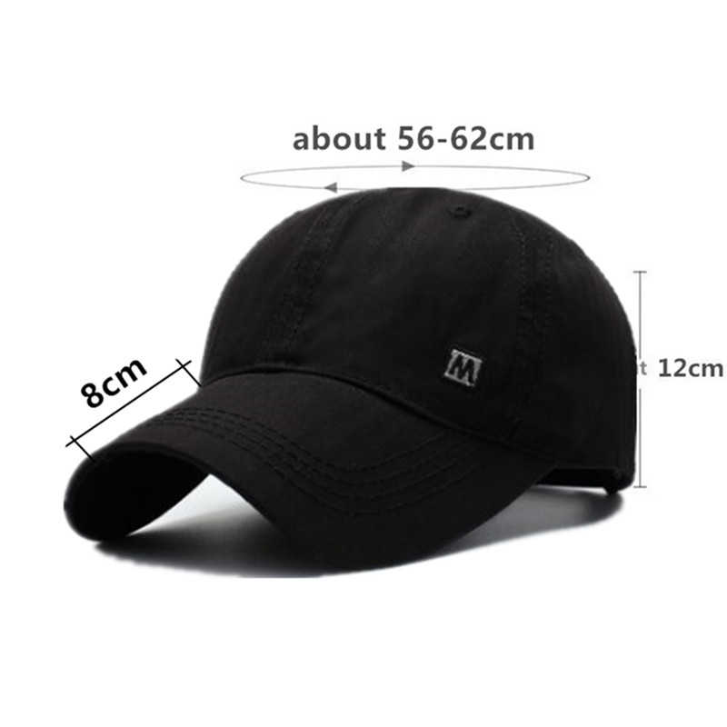 SILOQIN Men 39 s Letter Embroidery Cotton Baseball Cap Adjustable Size Dad 39 s Hat Young Male Bone Fashion Sports Caps Snapback Cap in Men 39 s Baseball Caps from Apparel Accessories
