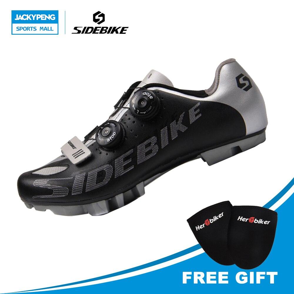 SIDEBIKE Professional Cycling Bike <font><b>Shoes</b></font> rey SPD System Self-locking MTB Cycle <font><b>Shoes</b></font> Cycling Racing <font><b>Shoes</b></font> For Men