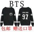 2016 BTS пуленепробиваемый Корпус JIMIN V JUNGKOOK JHOPE длинными рукавами о-образным вырезом футболка BTS Толстовки Черные