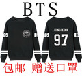 2016 BTS bulletproof Corps JIMIN V JUNGKOOK JHOPE long-sleeve o-neck sweatshirt BTS  Hoodies Blacks
